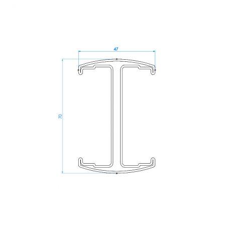 Schéma technique vue de dessus poteau à clip Easy Pro Clip