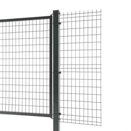 Portail Easy Home passage 3 mètres avec clôture panneau rigide Easy Home - gris anthracite
