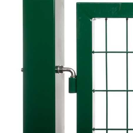 Zoom gonds portail grillagé passage 3 mètres - vert