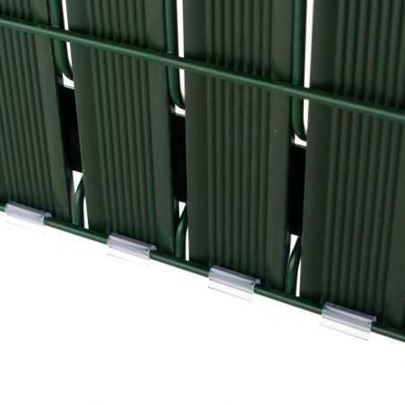 Zoom maintient des lattes PVC Easy Slat par clip transparent - vert