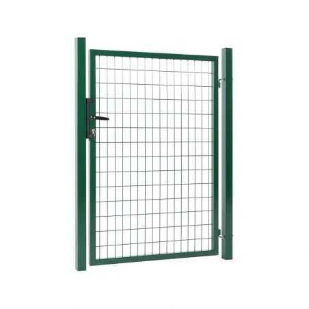 Portillon grillagé maille 100x50 - largeur 1m20 - vert