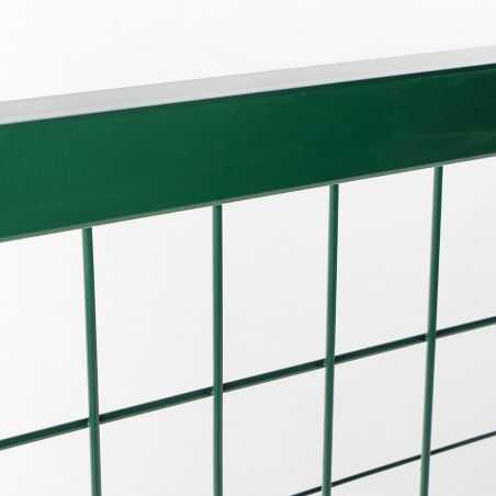 Zoom cadre et maille du portillon largeur 1m20 - vert