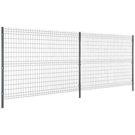 Travées de clôture panneau rigide Easy Home - Hauteur 1m53 - gris anthracite