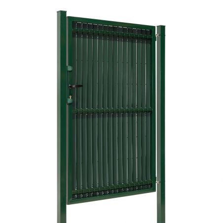 Porte de jardin grillagé avec occultation - vert