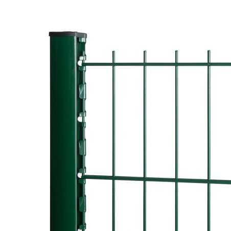 Zoom panneau rigide sans pli vert avec poteau à encoche