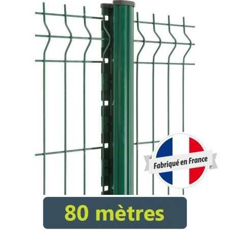Kit clôture panneau rigide Easy PRO 5 - 80 mètres