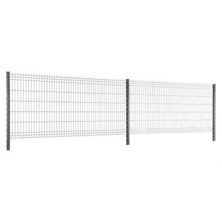 Travées de clôture avec panneau rigide Easy PRO 5 - hauteur 1m23 - gris anthracite
