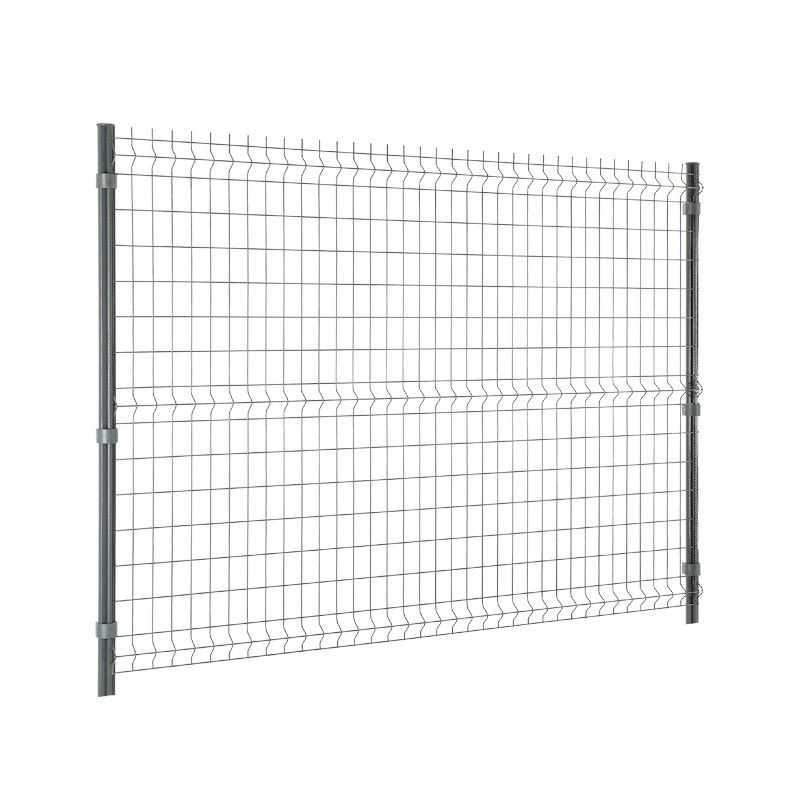 Travée de clôture panneau rigide Easy Home - Hauteur 1m53 - gris anthracite