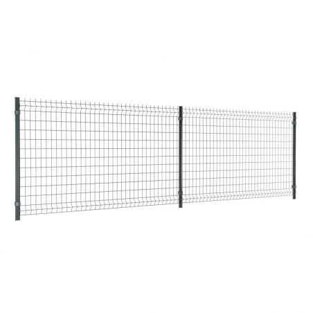Travées de clôture panneau rigide Easy Home - Hauteur 1m23 - gris anthracite
