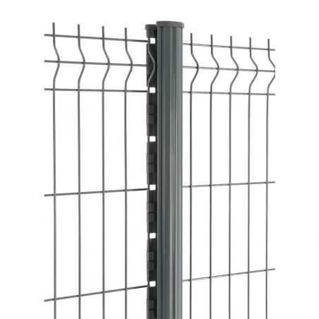 Zoom panneau et poteau de clôture panneau rigide gamme Easy PRO 5 - gris anthracite