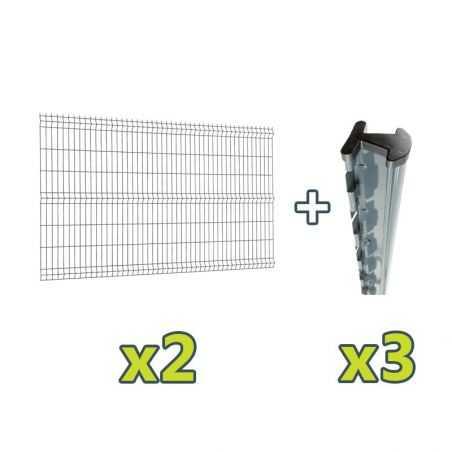 Contenu du kit clôture panneau rigide Easy PRO 5 - 5 mètres