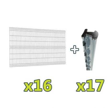 Contenu du kit clôture panneau rigide Easy PRO 5 - 40 mètres