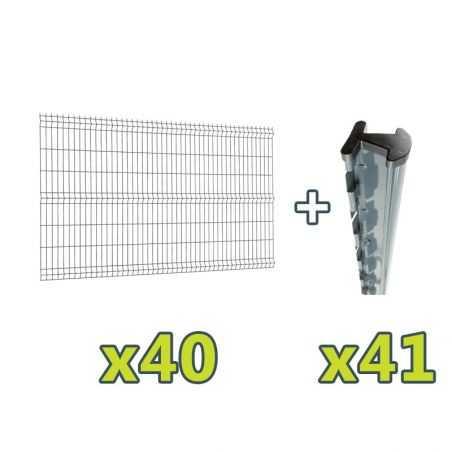Contenu du kit clôture panneau rigide Easy PRO 5 - 100 mètres