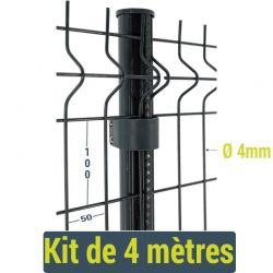 Kit clôture panneau rigide Easy Home - 4 mètres