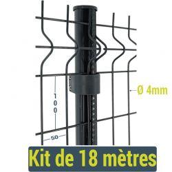 Kit clôture panneau rigide Easy Home - 18 mètres