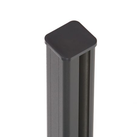 Poteau aluminium EASY ALU avec capuchon (fourni)