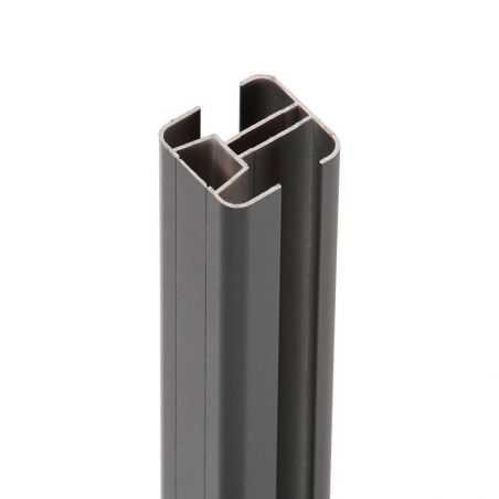Poteau aluminium EASY ALU sans capuchon