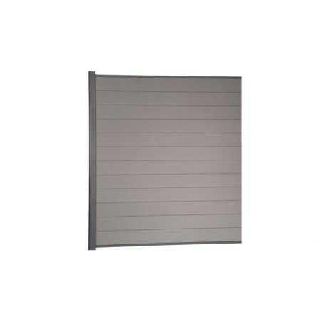 Kit de clôture lame composite +1 mètre 80 - gris clair
