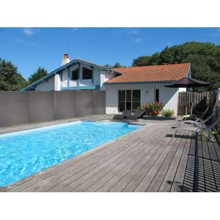 Photo ambiance cloture composite piscine
