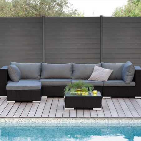Photo ambiance cloture composite terrasse