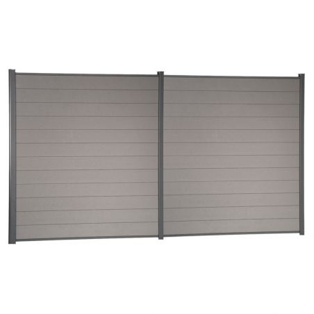 Kit de clôture lame composite - Gris clair