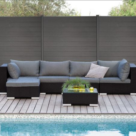 Photo ambiance cloture composite terrasse