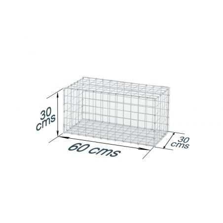 Gabion décoratif rectangulaire longueur 60 x hauteur 30 cms