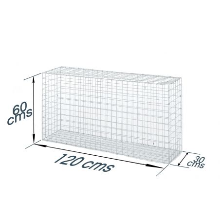 Gabion décoratif rectangulaire longueur 120 x hauteur 60 cms