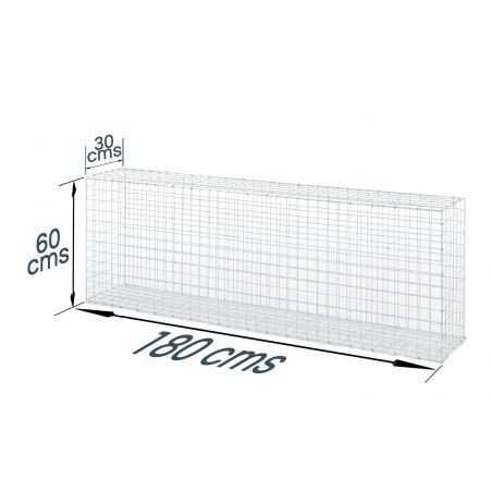Gabion décoratif rectangulaire longueur 60 x hauteur 180 cms