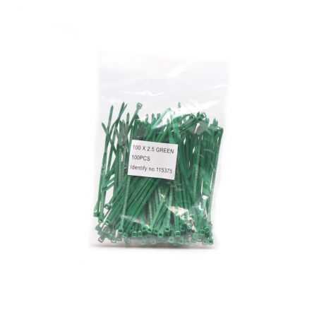 Sachet de 100 colsons pour brise-vue Easy Strip - vert