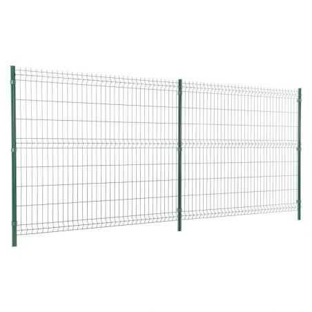 Travées de clôture avec panneau grillage rigide Easy Light - 1m73 - vert