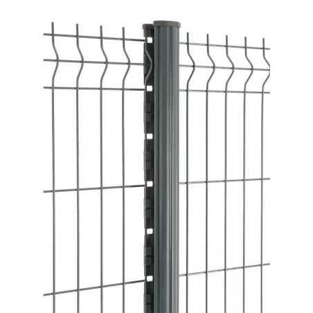 Zoom panneau et poteau de clôture panneau rigide gamme Easy PRO 5 - gris