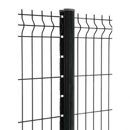 Travées de clôture avec panneau rigide Easy PRO 5 - hauteur 1m53 - noir