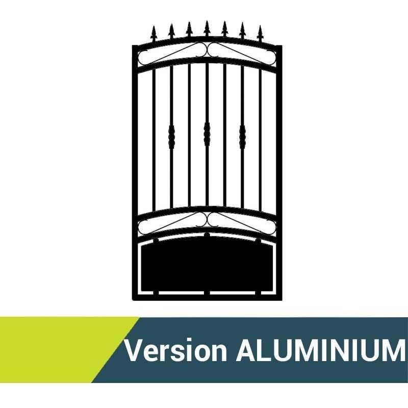 Portillon aluminium Opale - Passage 1m