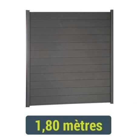 Kit clôture lame composite - 1 mètre 80