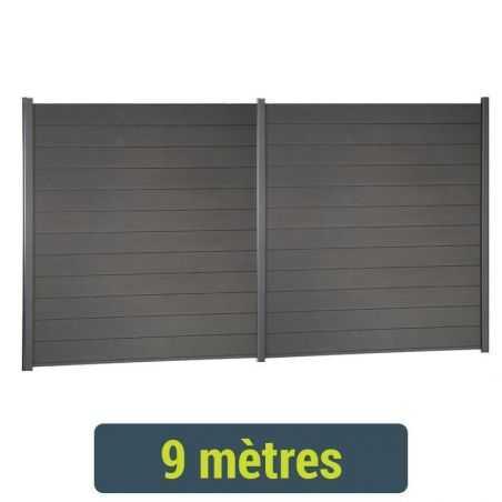 Kit de clôture lame composite - 9 mètres