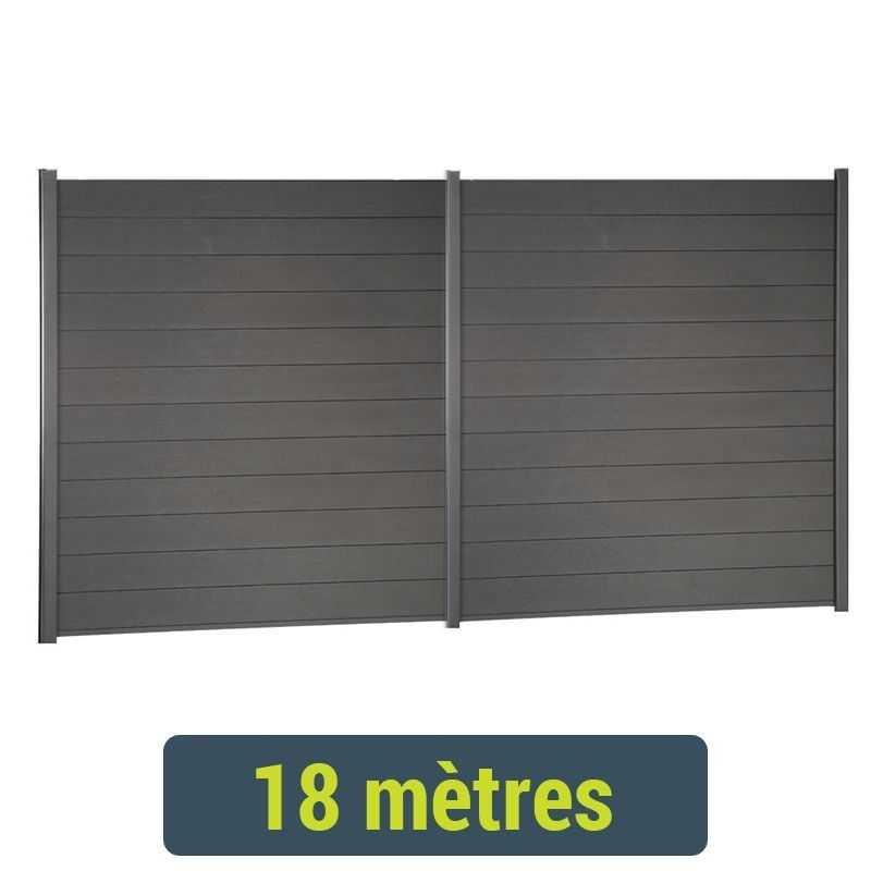 Kit de clôture lame composite - 18 mètres