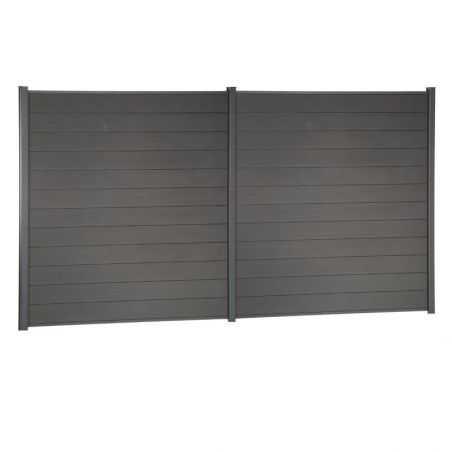 Kit de clôture lame composite - Gris