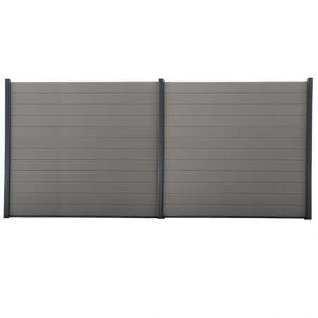 Kit de clôture lame composite - 12 mètres 60