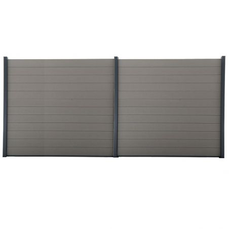 Kit de clôture lame composite - 14 mètres 40