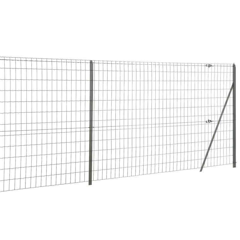 Kit clôture grillage souple complet Easy Garden - 25 mètres