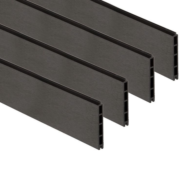 Pack de 4 lames composite - Gris Anthracite