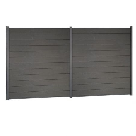 Kit de clôture lame composite - 3 mètres 60