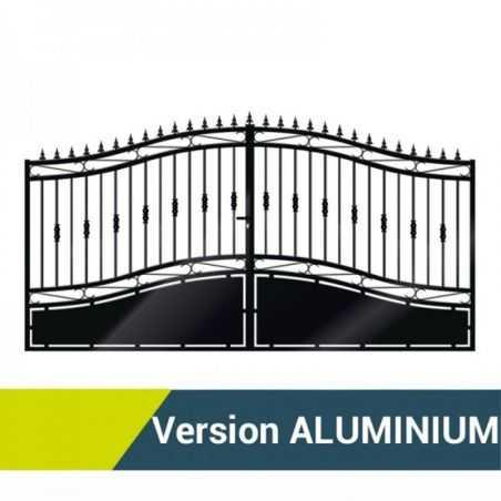 Portail fer double battants Aluminium - Opale