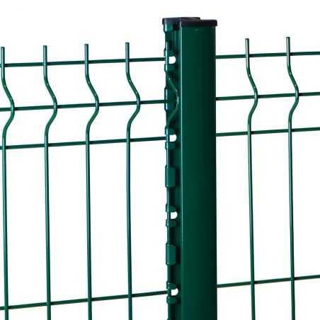 Travée de cloture rigide avec poteau Easy Pro Grif vert