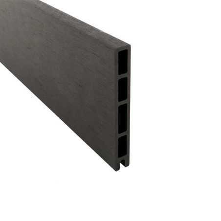 Lame de finition en bois composite gris anthracite