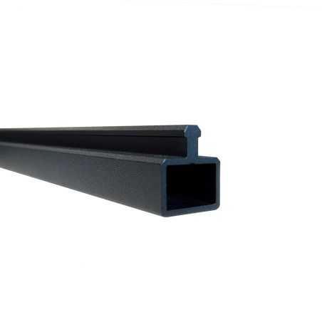 Lisse de finition basse en aluminium pour clôture composite