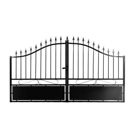 Portail en aluminium ajouré noir
