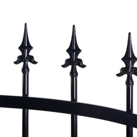 Zoom pointes pour portail fer forgé noir