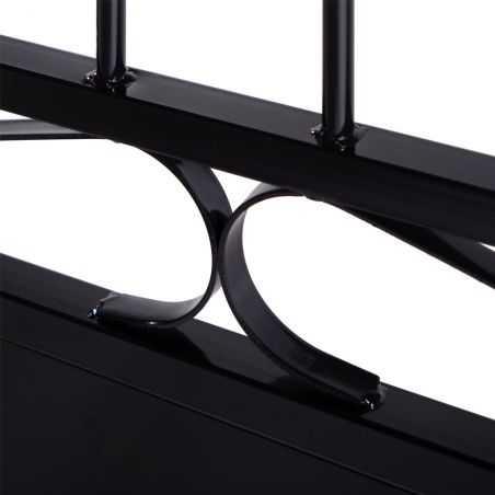 Zoom volutes pour portail deux ventaux en fer forgé noir
